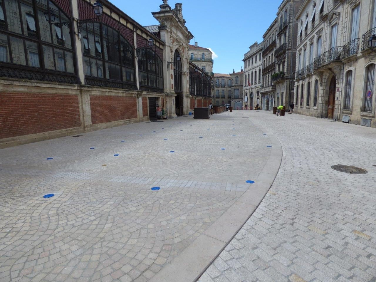 Aménagement place des Halls Béziers
