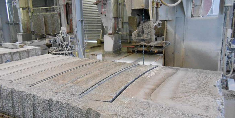 Contournage de bordure en granit