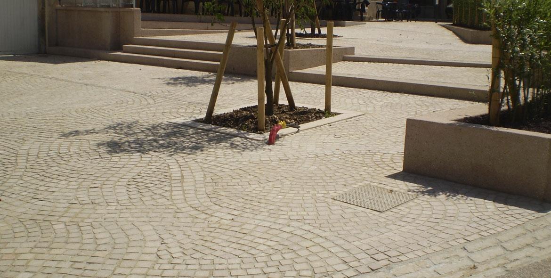 Pavage du centre ville d'Orgelet (39)