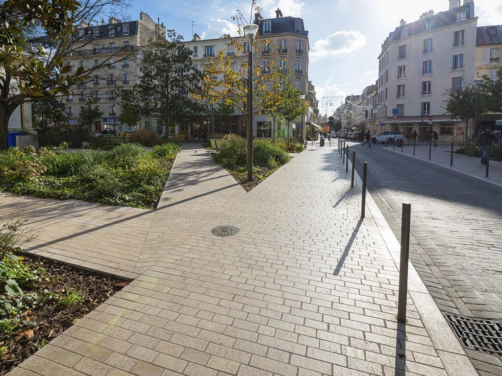 aménagement urbain trottoirs