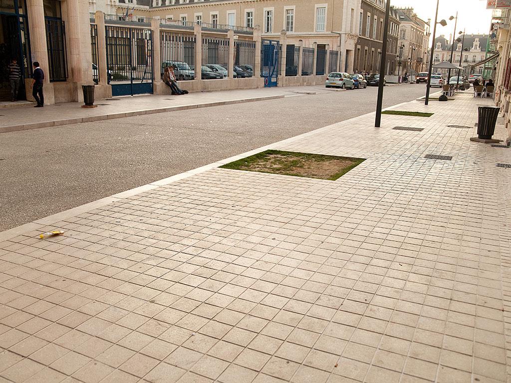 usage de la pierre en centre ville
